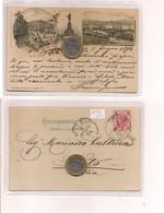 2701) Friuli Venezia Giulia TRIESTE Gruss LITHO 1894 Viaggiata X Noto - Saluti Da.../ Gruss Aus...