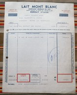 74 RUMILLY  Lait MONT BLANC 57 Metz - Factures