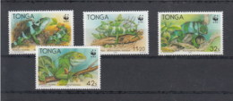 Tonga (BBK) Michel Cat.No. Mnh/** 1140/1143 Leguan - Tonga (1970-...)