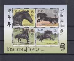 Tonga (BBK) Michel Cat.No. Mnh/** Sheet 76 Horses - Tonga (1970-...)