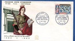 Enveloppe Premier Jour / N 359 / Demi 1000 Aire Collège Sainte Barbe / Paris / 3-12-60 - 1960-1969
