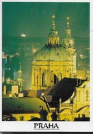 REP. CECA - PRAHA - NOTTURNO SULLA CUPOLA DI ST. NICHOLAS  - VIAGGIATA 1997 FRANCOBOLLO ASPORTATO - Repubblica Ceca