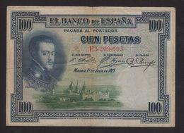 1925 Billete De 100 Pesetas Epoca Alfonso XIII - [ 4] 1975-… : Juan Carlos I