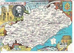 34 - HERAULT - SETE - FRONTIGNAN - MEZE - ST-PONS - SERVIAN - LUNEL - MAUGUIO ...( Déssin: J.P. PINCHON ) - France