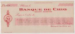 BANQUE DE CHIO SOCIETE ANONYME - Chèques & Chèques De Voyage