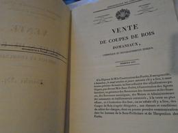 INSPECTION FORESTIERE DE L 'INDRE ARRONDISSEMENT D'ISSOUDUN  VENTE DE COUPES DE BOIS ROYAUX ET COMMUNAUX  EXERCICE 1837 - Centre - Val De Loire