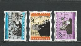 GABON  Scott 295-297 Yvert 294-6 (3) ** Cote 8,00  $ 1972 - Gabon (1960-...)