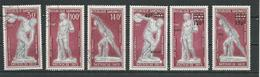 GABON  Scott C129-C131, C134-C136 Yvert PA129-PA131, PA134-PA136 O Et ** (6) Cote 8,00  $ 1972 - Gabon (1960-...)