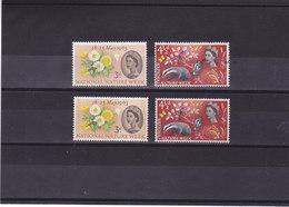 GB 1963 FLEURS ANIMAUX  Yvert 373-374 + 373A-374A  NEUF** MNH - 1952-.... (Elizabeth II)