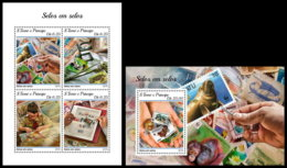 SAO TOME 2018 **MNH SMALL Stamps On Stamps Briefmarken Auf Marken Timbres Sur Timbres M/S+S/S - OFFICIAL ISSUE - DH1844 - Stamps On Stamps