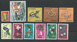 GABON  Scott O16, C127, 298-300, 284-289 Yvert Service 16, PA127, 283-288, 297-299 O Et * (11) Cote 6,75  $ 1972 - Gabon (1960-...)