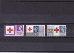 GB 1963 CROIX ROUGE  Yvert 378-380  NEUF** MNH - 1952-.... (Elizabeth II)