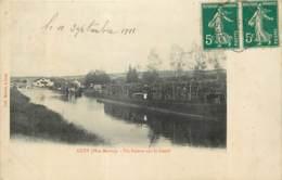 52 - LUZY - Un Bateau Sur Le Canal En 1911 - Peniche Port Bois - France