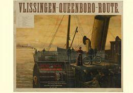 German Navigation Postcard Vlissingen-Queenboro-Route Continent Und England 1894 - Reproduction - Advertising