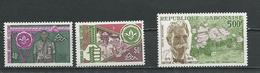 GABON  Scott 352-353, C159 Yvert 344-345, PA159 ** (3) Cote 10,50  $ 1975 - Gabon (1960-...)