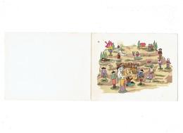 Double Cpa - Illustration Crèche Par M. De Pessonneaux - Santons Mouton Bébé âne Vache Berger Bébé Moulin JOYEUX NOEL - Illustrateurs & Photographes