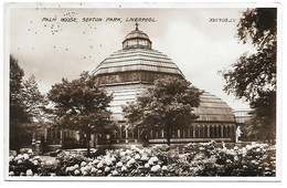 REAL PHOTO POSTCARD -  LIVERPOOL PALM HOUSE - SEFTON PARK ----- B348 - Liverpool