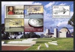 Australia 2010 Canberra Stamp Show Minisheet MNH - Coinage, Flight, Macquarie - 2010-... Elizabeth II