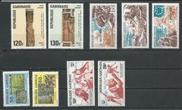 GABON  Scott 372-373, C181-C183, C176-C177, C174-C175 Yvert 368-369, PA181-3, PA176-7, PA174-5 ** (9) Cote 17  $ 1976 - Gabon (1960-...)