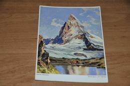 5611-  Illustrateur Hanns Maurus, Matterhorn Mit Riffelsee - Peintures & Tableaux