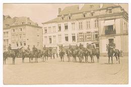 CPA Photo :  NAMUR - Militaires Place St Aubain, Dame En Amazone - Namur