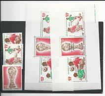 GABON  Scott C207-C209, C209a, C212a Yvert PA206-PA208, BF30, BF31 **(3+2blocs) Cote 16,50  $ 1978 - Gabon (1960-...)