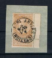 Belgien 1893 Mi.Nr. 57 Auf Papier - 1893-1900 Schmaler Bart