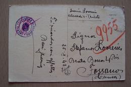 STORIA POSTALE CARTOLINA DA TRIESTE PER FOSSANO CUNEO CENSURA CASA DI RECLUSIONE ERA UN CAMPO DI CONCENTRAMENTO - 1900-44 Victor Emmanuel III