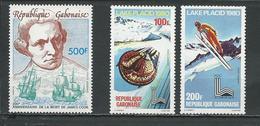 GABON  ScottC222, C227-C228 Yvert PA221, PA226-PA227 ** (3) Cote 10,50  $ 1979-80 - Gabon (1960-...)