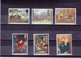 GB 1967 PEINTURES Yvert 491-493 + 499-501 NEUF** MNH - 1952-.... (Elizabeth II)
