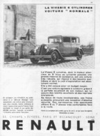 "PUB RENAULT  ""  VIVASIX 6 CYLINDRES ""    1930 - Cars"