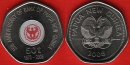 "Papua New Guinea 50 Toea 2008 ""Bank Of PNG"" Colored UNC - Papouasie-Nouvelle-Guinée"