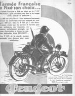 """PUB MOTO  """"  PEUGEOT P 107 S  """"    1930 - Moto"""