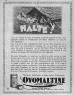 "PUB  "" OVOMALTINE ""    1930 ( 2 ) - Advertising"