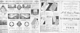 """DEPLIANT PUBLICITAIRE  """" CHEMISERIE De LANGRES """" 1930 - Lorraine - Vosges"""