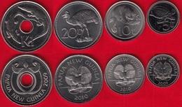 Papua New Guinea Set Of 4 Coins: 5 Toea - 1 Kina 2009-2010 UNC - Papouasie-Nouvelle-Guinée