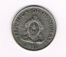 // HONDURAS  50  CENTAVOS   1991 - Honduras