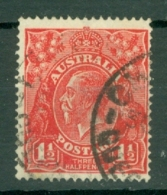 Australia: 1924   KGV    SG77   1½d   Scarlet   Used - 1913-36 George V: Heads