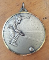 Old Medal For 2. Place Bowling Cetvorke Bocanje BD Drenova Rijeka Fiume - Bowling