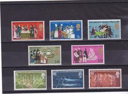 GB 1970  Yvert 586-590 + 596-598 NEUF** MNH - 1952-.... (Elizabeth II)