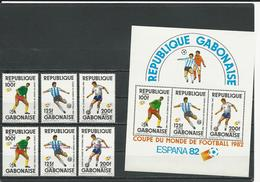GABON  Scott 511-513, 516-516, 513a Yvert 497-499, 504-506, BF42 ** (6+bloc) Cote 13,50  $ 1982 - Gabon (1960-...)