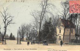 Bordeaux - 1904 - Une Entrée Du Parc Bordelais - Bordeaux