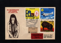 Paraguay 1976 50 Years Of Lufthansa - Covers & Documents