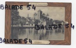 CPA - ANNECY (74) Album Souvenir - Carte à Système (dépliant De 6 Vues) Palais De L'ile, Talloires Et Chapelle Du Toron - Annecy