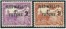 Wallis Et Futuna (1927) Taxe N 9 + 10 * (charniere) - Wallis Und Futuna