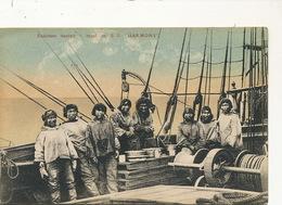 Polar Expedition On S.S. Harmony Eskimos On Board Having Lunch  Edit Herrnhut Germany No 76 - Postcards