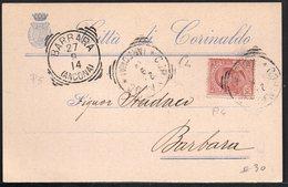 ITALY ITALIA ITALIEN 1914. POSTCARD CARTOLINA POSTALE, CARINALDO BARBARA (ANCONA) - Italy