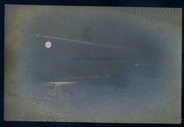 Cpa Carte Photo Du 85 Les Sables D' Olonne ( Marque Gaufrée) Vue De Nuit Bateaux En Mer   Sept18-46 - Sables D'Olonne