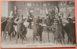 CARTE COLLEGE DE POLIGNY - 39 - LA CLASSE DE DESSIN - SCAN RECTO/VERSO -11 - Poligny