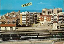 Molise-campobasso-termoli Panorama Parziale Citta E Stazione Ferroviaria Veduta Treni Merce In Sosta Anni 60 - Italia